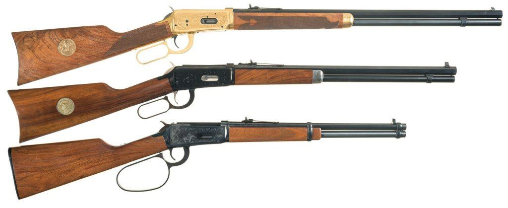 Three Special Edition Winchester Model 94 Lever Action Long Guns -A)  Winchester Model 94 Oliver Winc