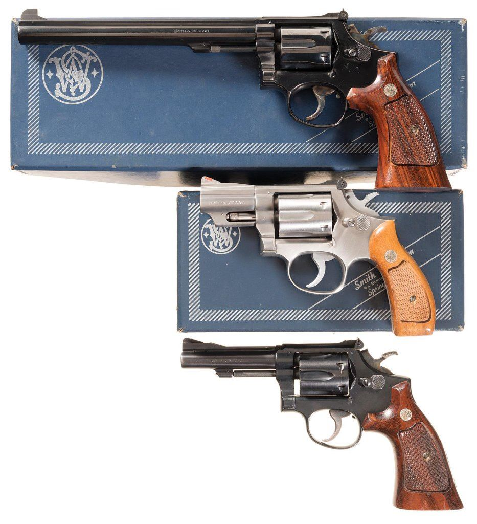 Three Smith & Wesson Revolvers -A) S&W Model 14-3 Single Action Revolver  with Box