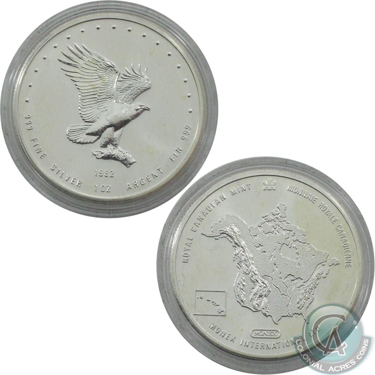 1982 Silver Eagle 1 oz .999 Fine Silver Round Monex International LTD