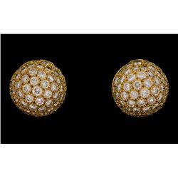 EARRINGS: Ladies 18ky Tiffany & Co earrings; approx. (106) rb dias, 1.8mm to 2.2mm =est. 2.99cttw, E