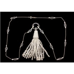 NECKLACE: Ladies plat Tiffany & Co necklace; approx. (212) rb dias, 1.2mm to 2.3mm =est. 3.45cttw, E