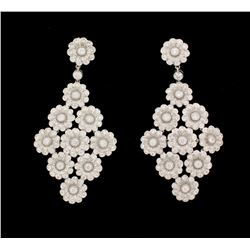 EARRINGS: Ladies plat Tiffany & Co earrings; (242) rb dias, 1.3mm to 2.8mm =est. 3.96cttw, Ex/G/VS;