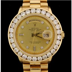 WATCH:  [1] 18KYG gents Rolex Oyster Perpetual Day-Date President watch an after market gold tone di