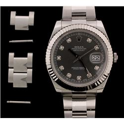 WATCH:  [1] Stainless Steel Gents. Rolex Oyster Perpetual Datejust II watch with Rhodium dia. marker