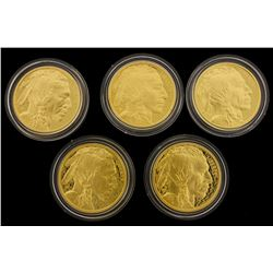 (1) COIN: 2013 W $50 American Buffalo 1 oz. .9999 gold Proof coin with box and papers. (1) COIN: 200