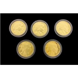 (1) COIN: 2013 W $50 American Buffalo 1 oz. .9999 gold Proof coin with box and papers. (1) COIN: 201