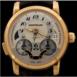 WATCH:  [1] 18KRG gents Montblanc Nicolas Riessec Chronograph Automatic watch, #SM101118, #7174; bro