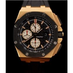 WATCH: [1] 18KRG gents Audemars Piguet Royal Oak Offshore Chronograph automatic watch with a black m