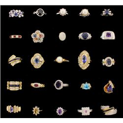 RINGS: [15] 14KY & WG assorted rings, set with diamonds, approx. 7.98 cttw., fair-good/ H-J/ VS-I, c