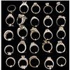 Image 2 : RINGS: [2] Platinum rings set w/diamonds, approx. 1.55 cttw., good/ H-I/ VS, 8.1 grams; [3] 18KWG ri