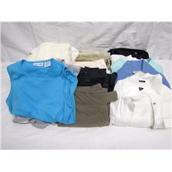 Clothing (27): hanging garment bag, 5 pairs ladies slacks, 6 tops/blouses, 4 ladies jackets, 2 tank