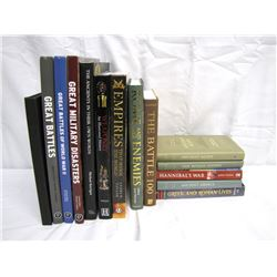 Misc. Personal Property (14): military books, Greeks and Romans, ancient empires, great battles, wea