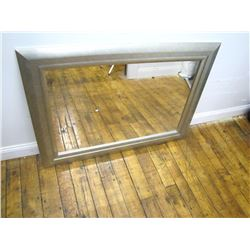 "Furniture (1): Decorative silver leaf frame mirror – 33"" x 44"""