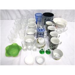 Misc. Personal Property (39): Kitchen items including cat and miscellaneous mugs, bowls, glassware,