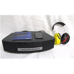 Misc. Personal Property (2): Black Bose Wave Radio/CD/Alarm with remote control, 1 pair ear protecti