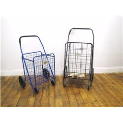 Misc. Personal Property (2): Rolling shopping carts, used. One blue, one black. Misc. Personal Prope