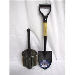 Misc. Personal Property (2) Folding military field shovel, new small Craftsman Car 'n Garden Mate sh