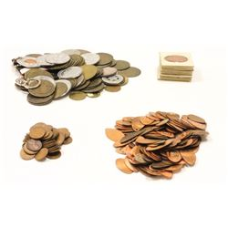 COINS: [47] Assorted date and mint U.S. wheat pennies, circulated. ELONGATED PENNIES: [126] Assorted