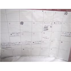 Bulger's personal desk calendar with notes