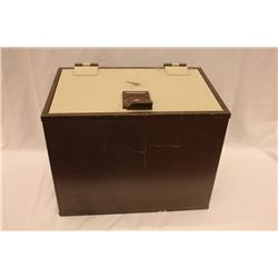 (1) Brown Duravault Floor Safe, With Key, 19  x 15 . ** Personal Asset Formerly Belonging to James