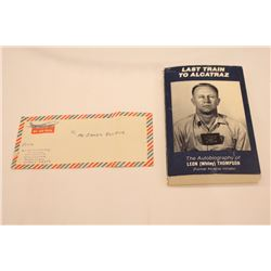 Book-Last train to Alcatraz - Autographed to Bulger from Author, Business Card as bookmark, Handwrit