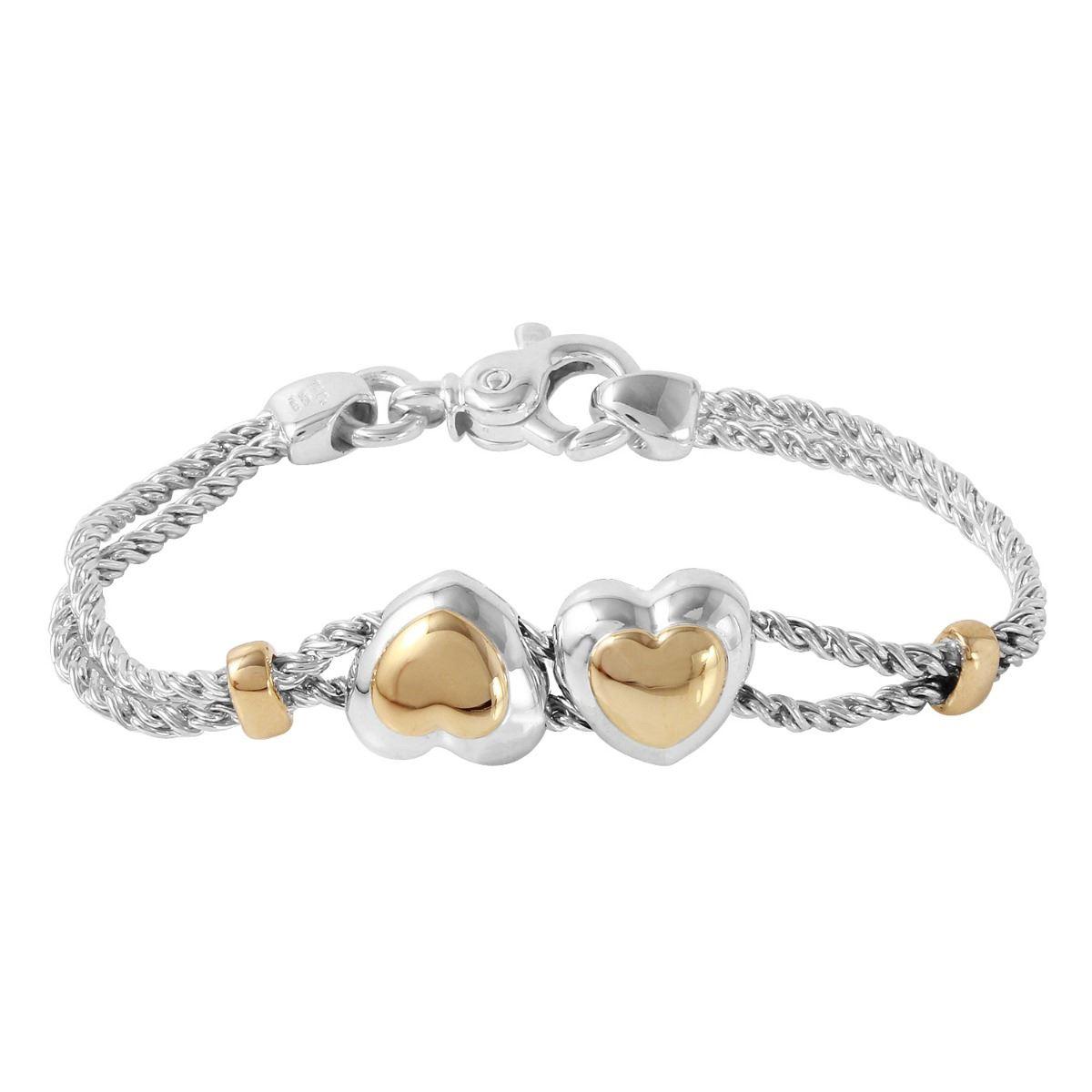 82a30fcb0 Image 1 : Tiffany & Co 18KT & Sterling Double Rope Heart Bracelet - # ...
