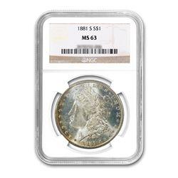 1881-S $1 Morgan Silver Dollar - NGC MS63