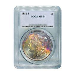 1881-S $1 Morgan Silver Dollar - PCGS MS64