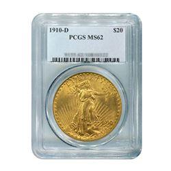 1910-D $20 Saint Gaudens PCGS MS62