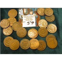 (20) 1880-90 era Indian Head Cents.