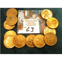 (12) 1945 P Lincoln Cents. AU to Unc.