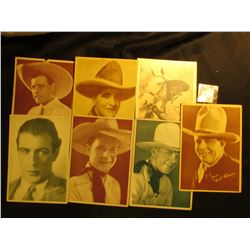 (7) Stage Photos from Western Stars, includes: Jack Hoxie, Edmund Cobb, Gary Cooper, Buck Jones & Si