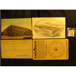 "4 pieces of memorabilia from ""Louden Machinery Co."" Fairfield, Iowa. Includes a Gestation Calculator"