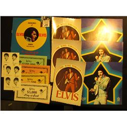 Set of Elvis (Presley) Currency $5,000, $10,000, $50,000, $100,000, & $500,000 notes; (2) Old Beatle
