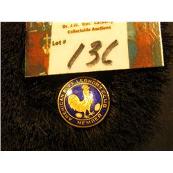 "Collar Pin. ""American Buff Leghorn Club/Member"", ""St. Louis Button Co."""