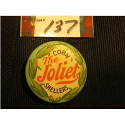 "Advertising Pin-back ""The Joliet Corn Shellers"", ""St. Louis Button Co."""