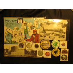 "Large group of Minnesota Memorabilia, Includes: 1949 Post Card ""Paul Bunyan and Babe the Blue Ox""; G"