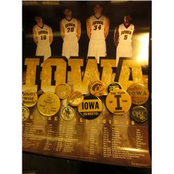 "(2) 18"" x 24"" Poster ""Iowa Basketball 2015-16"" by University of Iowa Healthcare; & (12) Old Iowa Haw"