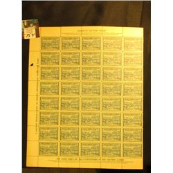 "Mint Sheet of ""American Victory Stamp(s)"", ""V Olympic Winter Games. St. Moritz. Switzerland.February"