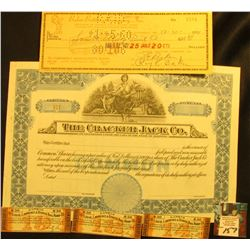 1959 dated Check from  Baker Bottling Company, Inc. Bottlers of Double Cola, Squirt, Hires, Canada D