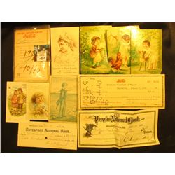 "1898 ""Peoples National Bank Rock Island, Ill."" Bank check; ""Pepsi-Cola Bottling Company of Macon, Ga"