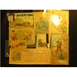 "Davenport, Ia. Postcard ""Hickey Bros.""; ""Flynn Beverage Company…Davenport, Ia…"" Cigarette Lighter; a"