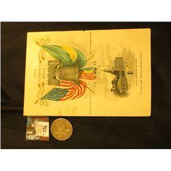 "Souvenir Card ""The Liberty Bell Philadelphia San Francisco 1915 Compliments of Philadelphia"", 5.75"""