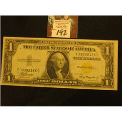 Series 1935A $1 North Africa Emergency Silver Certificate, Obverse macro plate no. H4460, reverse ma