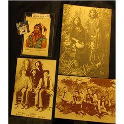 "Ca. 1900 Tobacco Silk """"Black Hawk""-Apache-One of Geronimo's Band NEBO Cigarettes""; Indian Print; &"