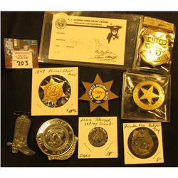 Group of Old Children's Law enforcement, Sheriff, and etc . Badges and memorabilia.