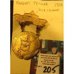 """Siloam No. 54"", ""52nd Annual Conclave Grand Commandery K.T., Ill. Oct. 13-15, 1908"" Knight's Temple"