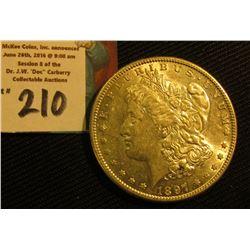 1897 S Morgan Silver Dollar. AU.