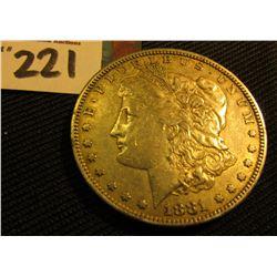 1881 S Morgan Silver Dollar. VF.