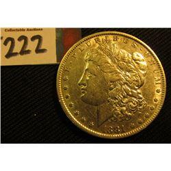 1881 P Morgan Silver Dollar. EF.